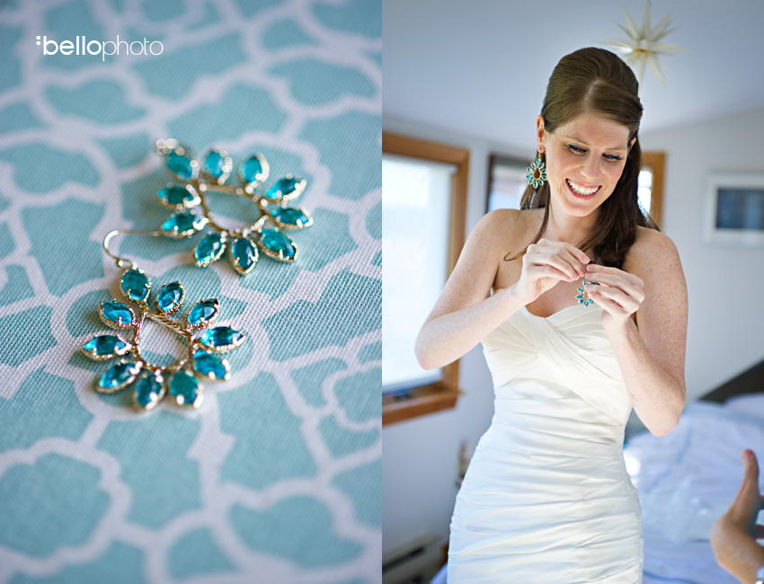They also happened to match her teal green wedding color scheme