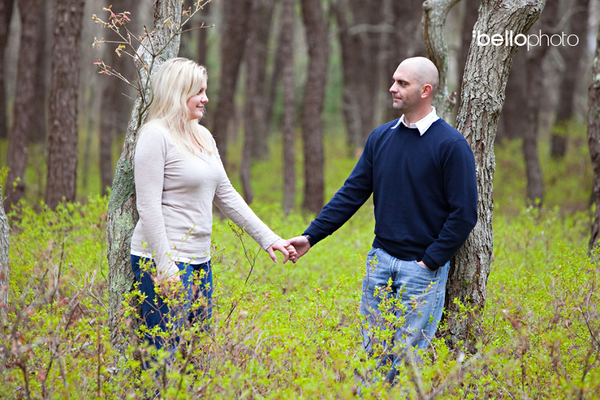 Couple in the Woods on Cape Cod