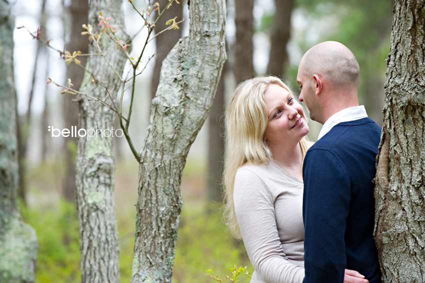 Couple in the Woods, Cape Cod photographers