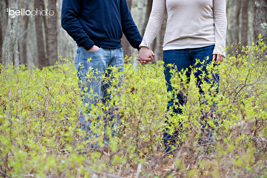 Couple in the Woods, Cape Cod Engagement Session