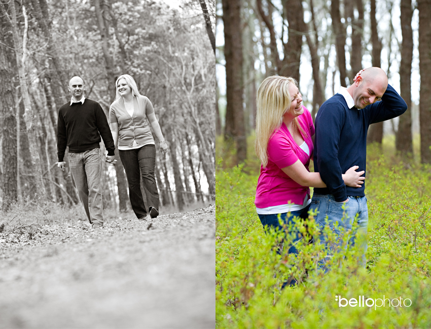 Cape Cod Photographers - couple in the woods