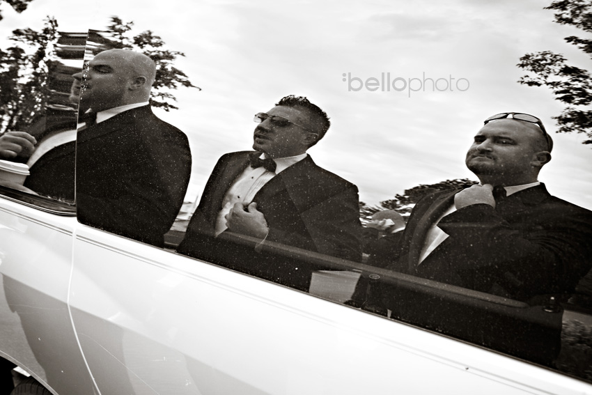 groomsmen reflection, bello photography, cape cod photographers
