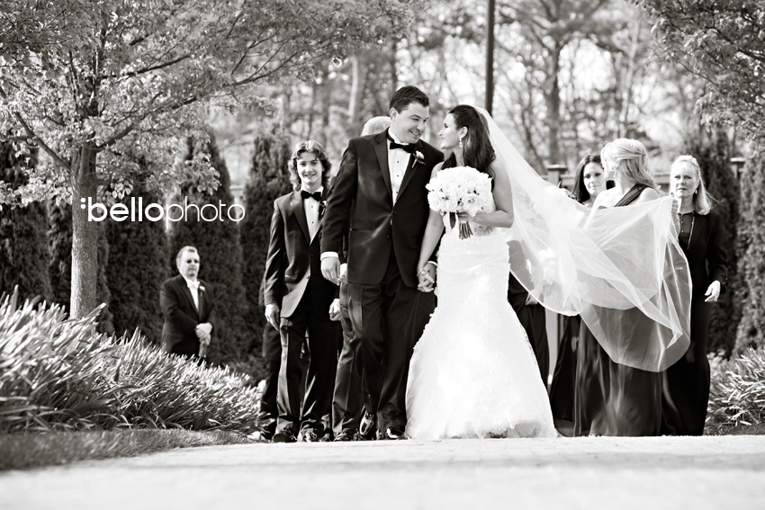 bride & groom with bridal party, cape cod photographers, bello photography