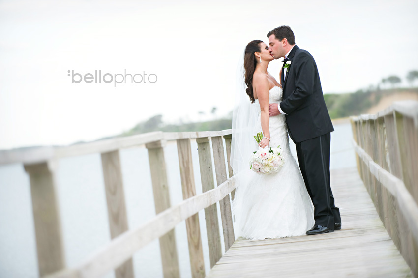 bride & groom kiss, cape cod photographers, bello photography