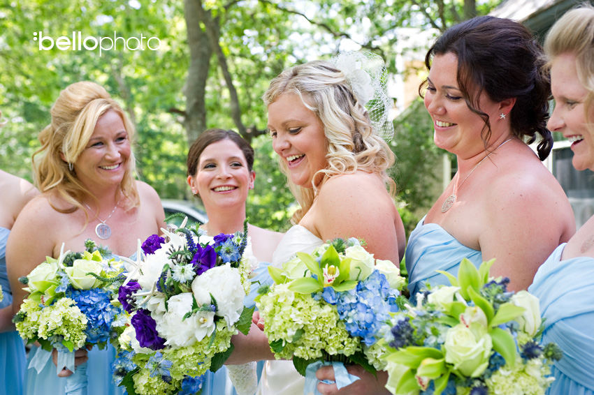 bride &amp; bridesmaids