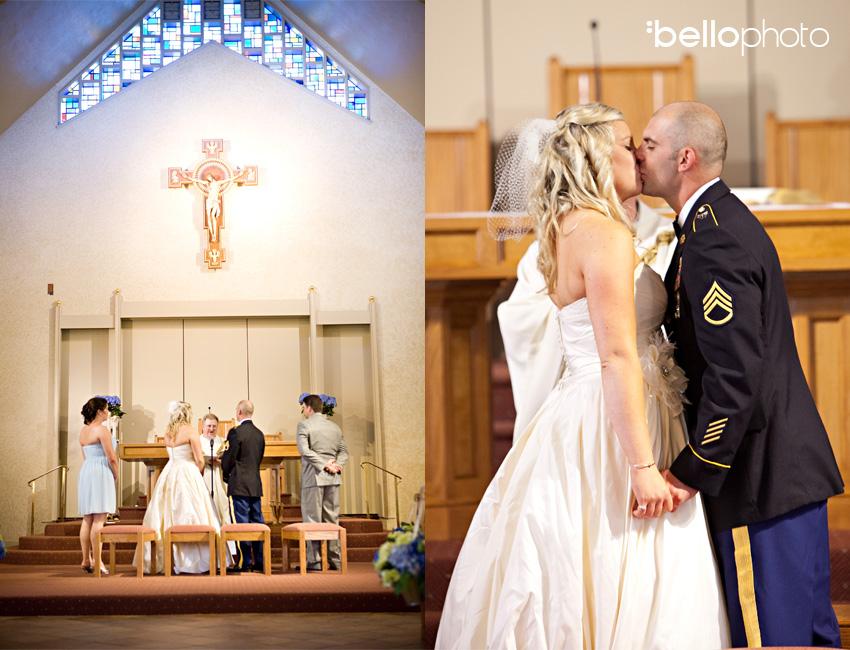 church wedding kiss