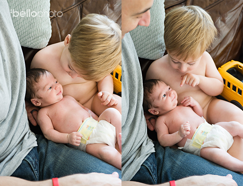 newborn, big brother, smiles, lifestyle photographer