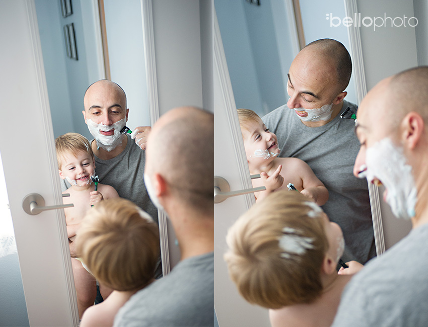 shaving with dad, lifestyle photographers
