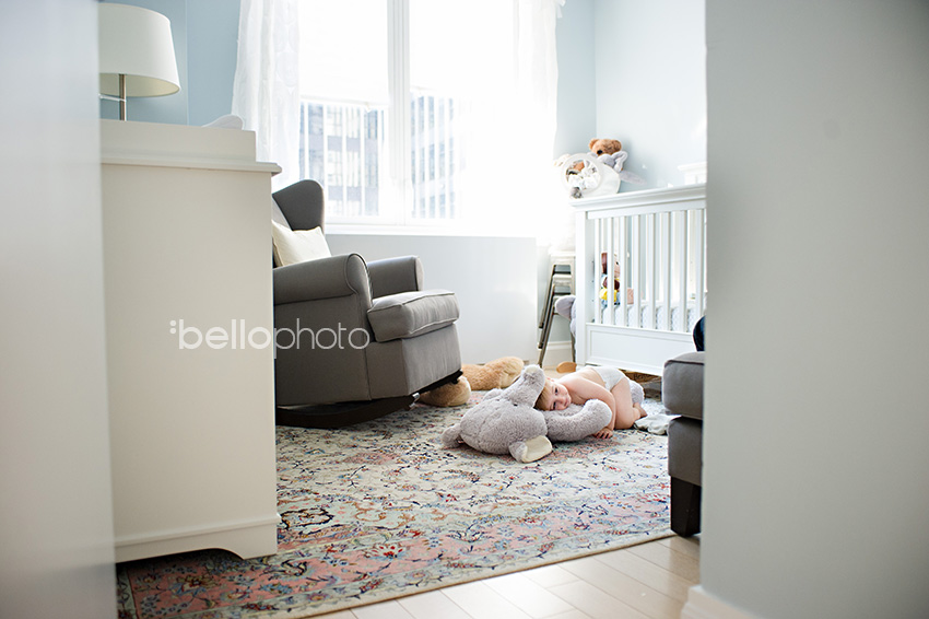 toddler in his room, stuffed animal, lifestyle photographer