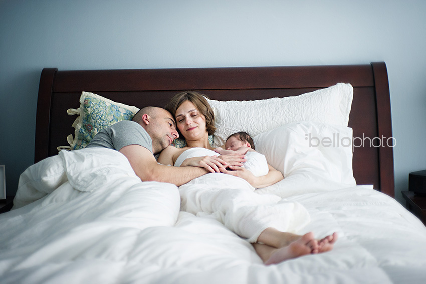 new parents sleeping with baby, cape cod lifestyle photographers