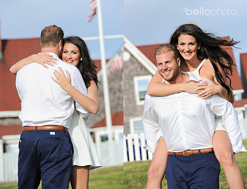 nobska lighthouse engagement session