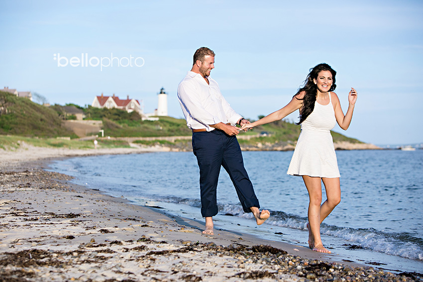 falmouth beach engagement session