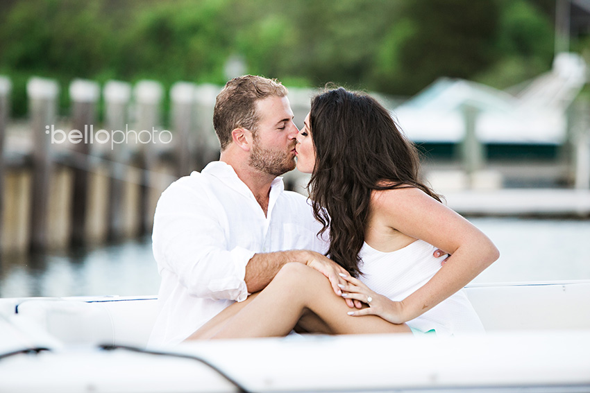 couple kissing on boat, falmouth wedding photographers