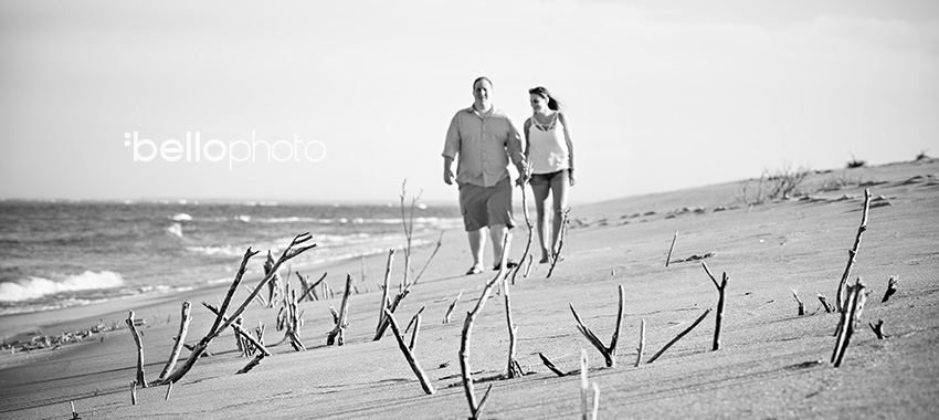 chatham beach engaged couple