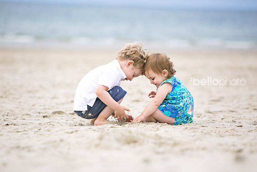 kids playing in the sand, cape cod