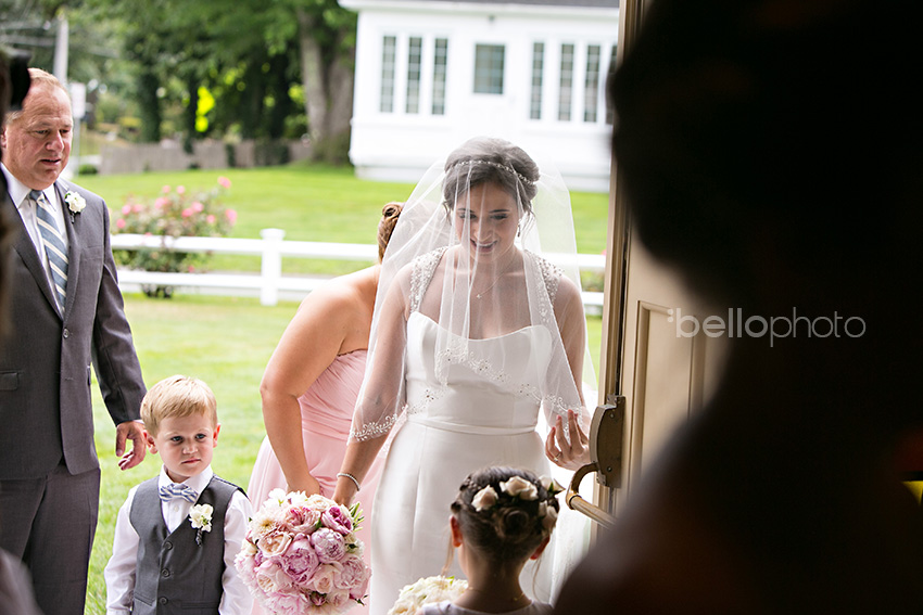 bride enters church, holy trinity, cape cod wedding