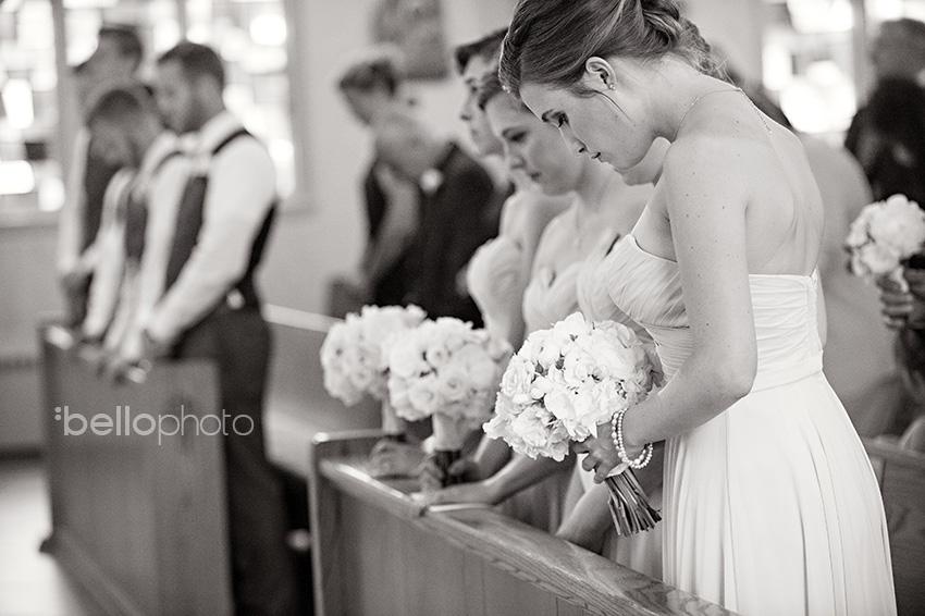 bridal party church wedding
