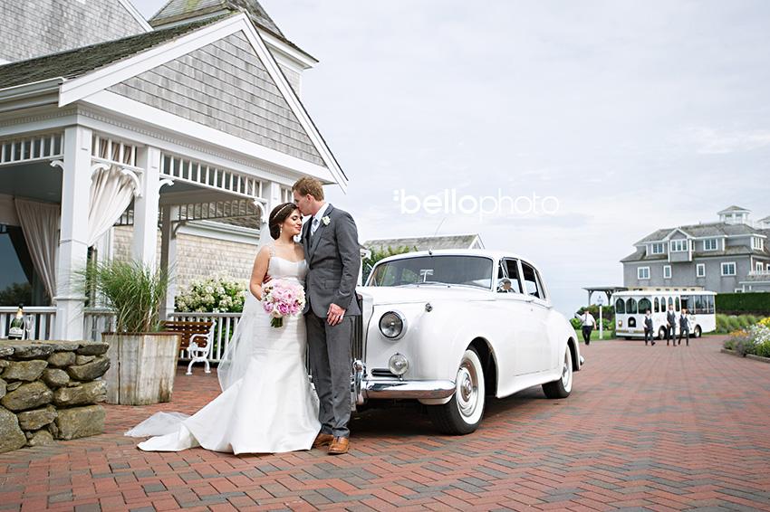bride & groom rolls royce, wychmere wedding
