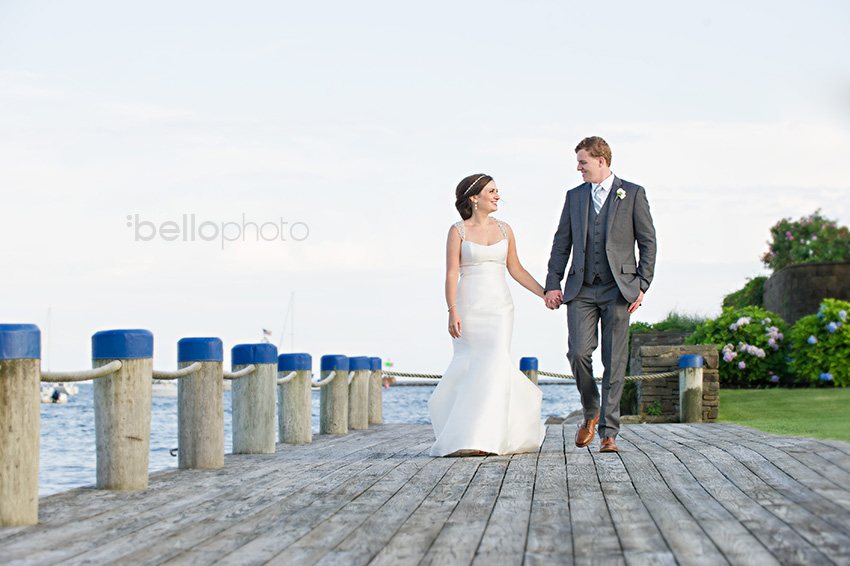 cape cod bride & groom