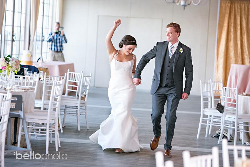 bride & groom enter reception