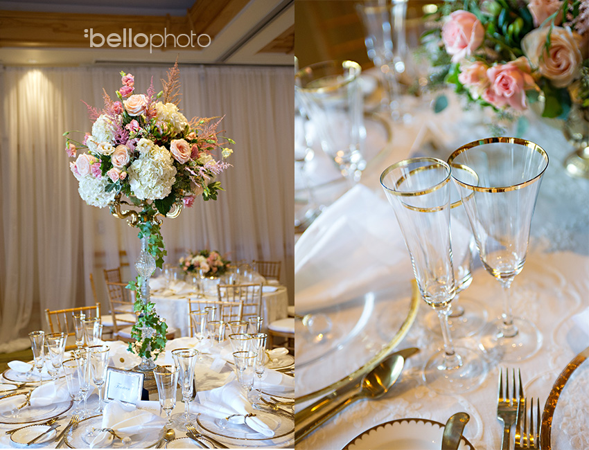 gold & blush wedding colors