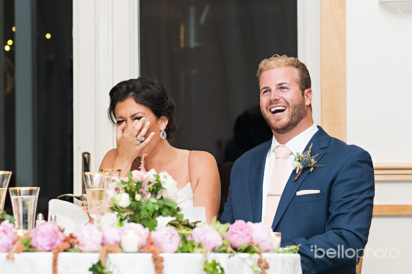 bride & groom react to wequassett speeches