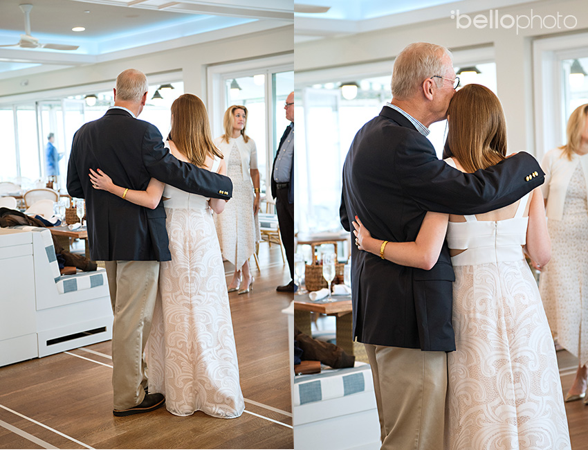 Father daughter wedding moment