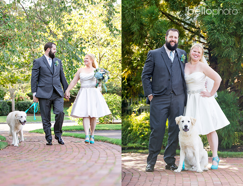 05 bride & groom with dog