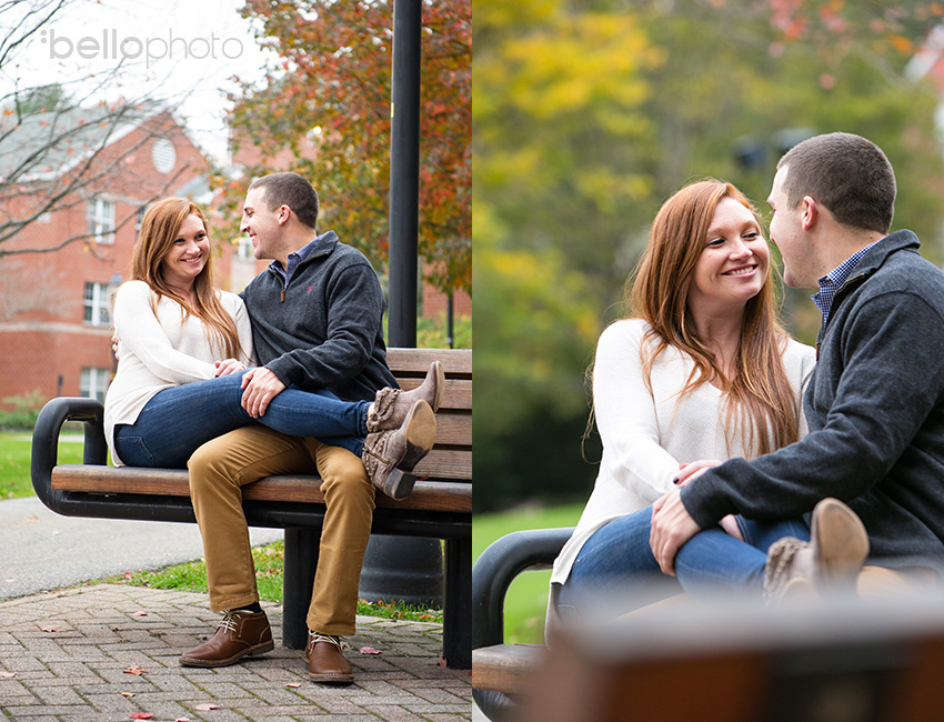 07 couple cuddling on a bench